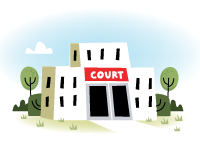 Court building illustration