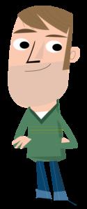 Illustration of adult male
